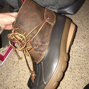 Never worn sperry duck boots size 10